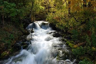 Photograph - Waterfall On The Little Spearfish Iv by Dakota Light Photography By Dakota