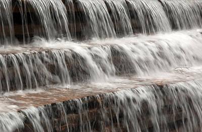 Photograph - Waterfall Over A Dam On Waba Creek. by Rob Huntley