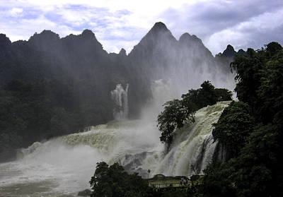 Waterfall Art Print by Qing