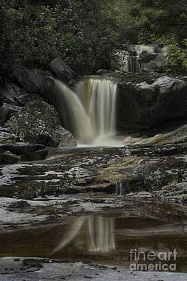 Waterfall Reflection On Big Run River  Art Print by Dan Friend