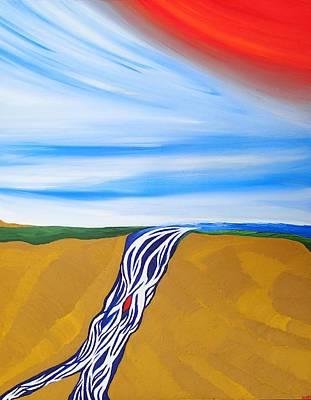 Waterfall Art Print by Robert Nickologianis