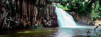 Rochester Photograph - Waterfall, Rochester Falls, Mauritius by Panoramic Images