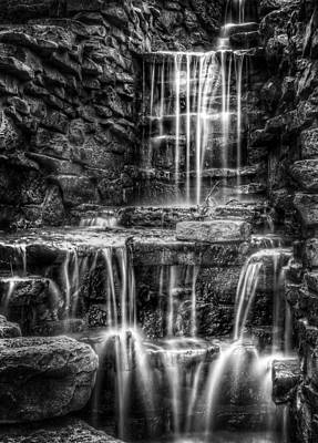 White And Black Waterfalls Photograph - Waterfall by Scott Norris