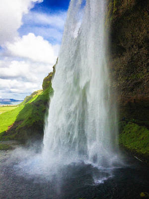Landscapes Wall Art - Photograph - Waterfall Seljalandsfoss South Iceland Europe by Matthias Hauser