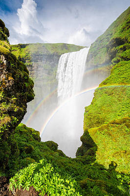 Photograph - Waterfall Skogafoss Iceland Europe by Matthias Hauser