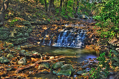 Photograph - Waterfall South Elgin Il by Roger Passman
