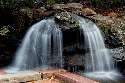 Photograph - Waterfall Split by Trent Mallett
