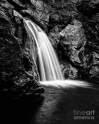 Photograph - Bingham Falls Waterfall Stowe Vermont Open Edition by Edward Fielding