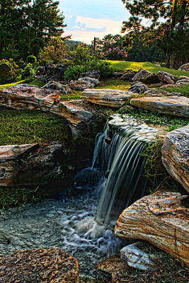 Music Figurative Potraits - Waterfall Sunset by Judy Vincent