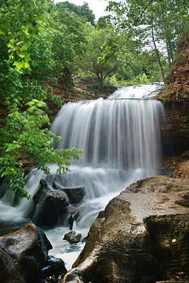 Waterfall Tanyard Creek Arkansas Art Print by Tim Fitzharris