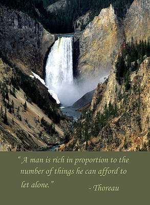 Photograph - Waterfall Thoreau Quote by Chris Scroggins