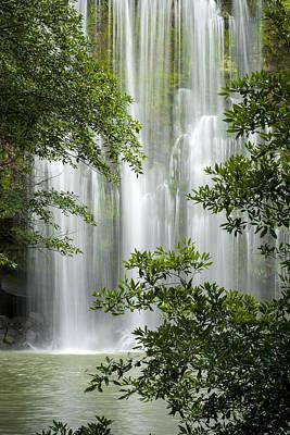 Waterfall Through Trees Art Print