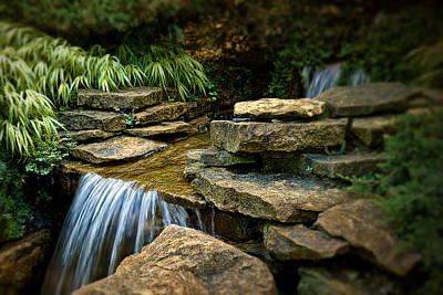 Waterfall Art Print by Tom Mc Nemar