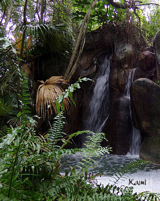 Photograph - Waterfall Tropic  by Kami Catherman