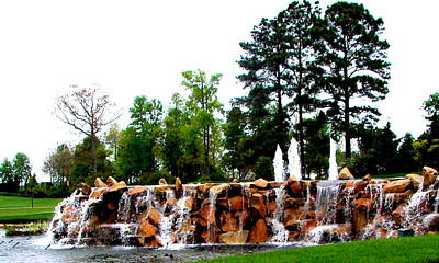 Photograph - Waterfall Under Fountains by Pamela Hyde Wilson