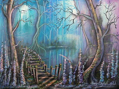 Painting - Waterfall Valley by Krystyna Spink