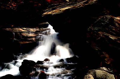 Photograph - Waterfall- Viator's Agonism by Vijinder Singh