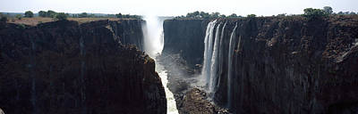 Victoria Falls Photograph - Waterfall, Victoria Falls, Zambezi by Panoramic Images