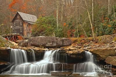 Photograph - Waterfalling Below Glade Creek by Adam Jewell
