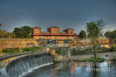 Art Print featuring the photograph Waterfalls And Train by Jim Lepard