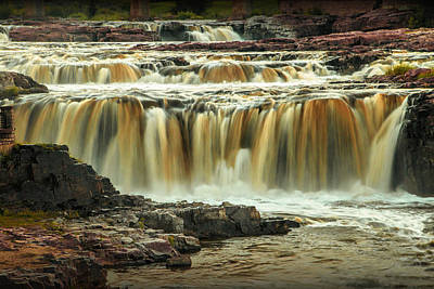 Photograph - Waterfalls At Falls Park In Sioux Falls South Dakota by Randall Nyhof