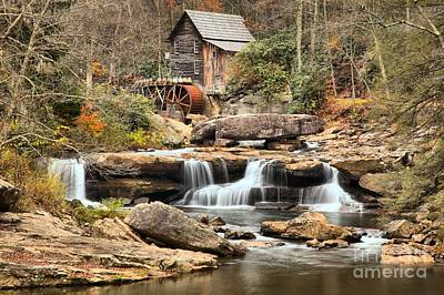Photograph - Waterfalls Below The Grist Mill by Adam Jewell