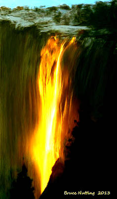 Art Print featuring the painting Waterfalls By Light by Bruce Nutting