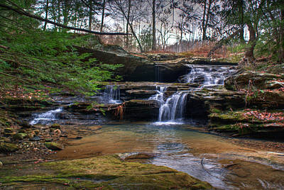 Photograph - Waterfalls Cascading by Douglas Barnett