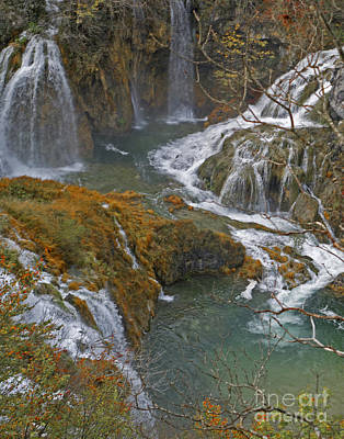 Photograph - Waterfalls Connecting Plitvice Lakes by Joan McArthur