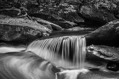 Photograph - Waterfalls Great Smoky Mountains Bw  by Rich Franco