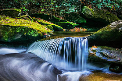 Photograph - Waterfalls Great Smoky Mountains  by Rich Franco