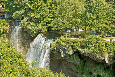 Photograph - Waterfalls In Green Nature Of Korana River by Brch Photography