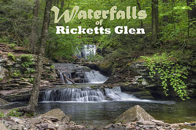 Photograph - Waterfalls Of Ricketts Glen by Gene Walls