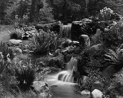 Chestnut Hill Photograph - Waterfalls On The Mr J B Van Sciver Estate by Richard Rothe
