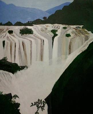 Painting - Waterfalls by Pratyasha Nithin