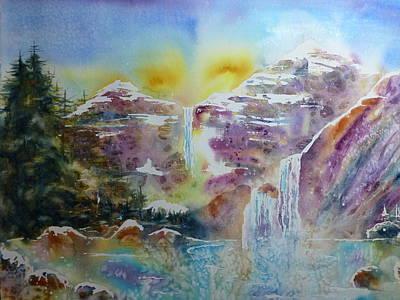 Wall Art - Painting - Waterfalls by Sharalyn Edgeberg