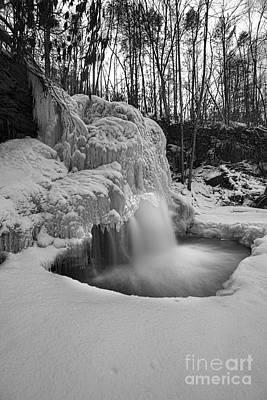 Photograph - Waterfalls Winter Pool by Dan Friend