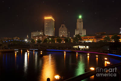 Riverwalk Photograph - Waterfire.  Providence Rhode Island by Juli Scalzi