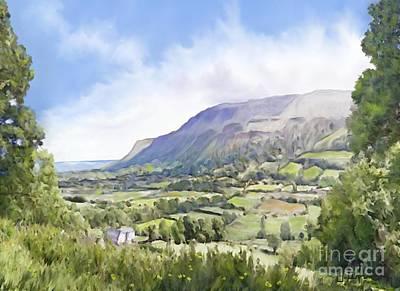 Irish Country Scenes Digital Art - Waterfoot  by Joe Lynch