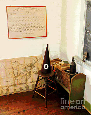 Photograph - Waterford Old School Dunce Corner by Larry Oskin