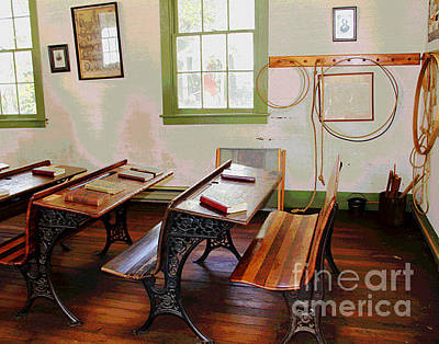 Photograph - Waterford Old School Room by Larry Oskin