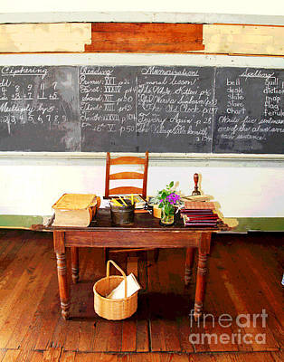 Waterford School Teacher's Desk Art Print by Larry Oskin
