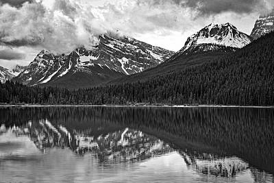 Photograph - Waterfowl Lake - Black And White by Stuart Litoff