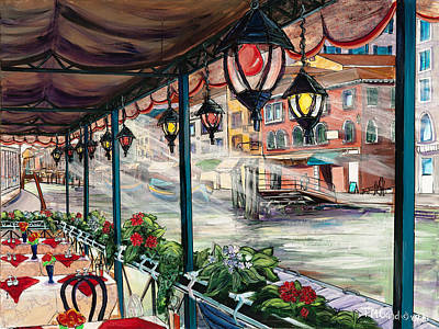 Painting - Waterfront Cafe by TM Gand