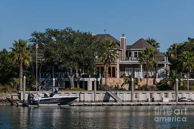 Photograph - Waterfront Home by Dale Powell