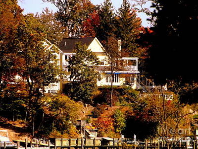 Photograph - Waterfront Home In Fall by John Potts
