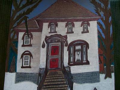Mechanisms Mixed Media - Historic 7th Street Home In Menominee by Jonathon Hansen