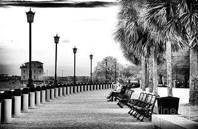 Waterfront Park Seats Art Print by John Rizzuto