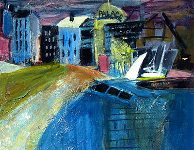 Buildings Of Old Mixed Media - Waterfront Renewal Two by Betty Pieper