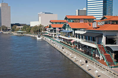 Waterfront Shopping And Dining Complex Art Print
